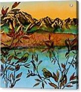 Sunrise On Willows Acrylic Print by Carolyn Doe