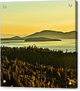 Sunrise Over Bellingham Bay Acrylic Print