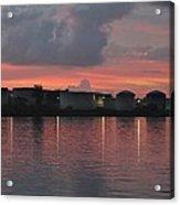 Sunrise Over Cape Fear River Acrylic Print
