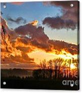 Sunrise Over Countryside Acrylic Print