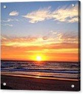 Sunrise Over Dolphins Acrylic Print