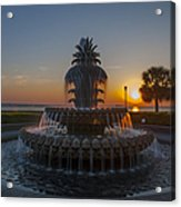 Sunrise Over Downtown Charleston  Acrylic Print