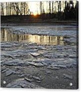 Sunrise Over Ice Acrylic Print