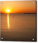 Sunrise Over Lake Michigan Acrylic Print