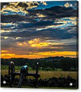 Sunrise Over Little Round Top Acrylic Print