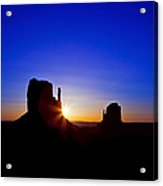 Sunrise Over Monument Valley Acrylic Print