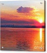 Sunrise Over Seattle Acrylic Print