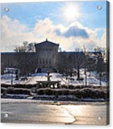 Sunrise Over The Art Museum In Winter Acrylic Print