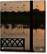 Sunrise Over The Dock Acrylic Print
