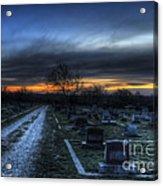 Sunrise Over The Grave Acrylic Print