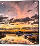 Sunrise Over The Old Salmon Boats Acrylic Print