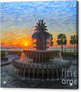 Sunrise Over The Pineapple Acrylic Print