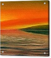 Sunrise Over The Sea Acrylic Print