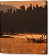 Sunrise Over The Yellowstone River Acrylic Print