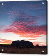 Sunrise Over Uluru Acrylic Print