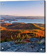 Sunrise Over Winnipesaukee. Acrylic Print