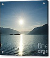 Sunrise Reflected Over An Alpine Lake Acrylic Print
