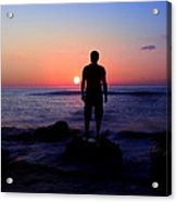 Sunrise Silhouette Acrylic Print by Svetoslav Sokolov