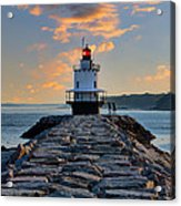 Sunrise Spring Point Ledge Acrylic Print