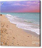 Sunrise Surf At Miami Beach  Acrylic Print