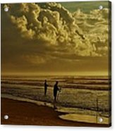 Sunrise Surf Fishing Acrylic Print