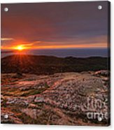 Sunrise View From Cadillac Mountain Acrylic Print