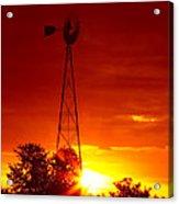Sunrise Windmill 1 A Acrylic Print