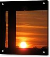 Sunrise Window Acrylic Print
