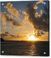 Sunrise With Clouds St. Martin Acrylic Print