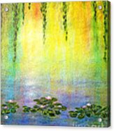 Sunrise With Water Lilies Acrylic Print
