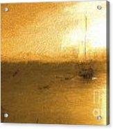 Sunrise with yacht Acrylic Print