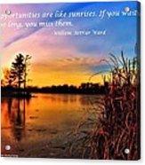 Sunrises Acrylic Print by Michelle and John Ressler