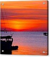 Sunset @ Galveston Bay Acrylic Print