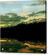 Sunset 1 Rainy Lake Acrylic Print