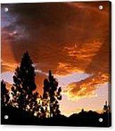 Bitterroot Valley Sunset Acrylic Print