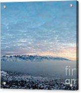 Sunset Above The Smog  Acrylic Print