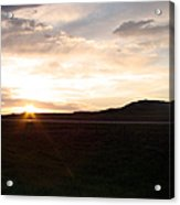 Sunset Across I 90 Acrylic Print
