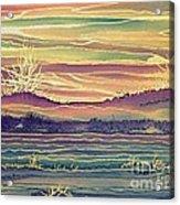 Sunset Across The River Acrylic Print