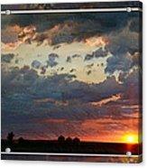 Sunset After A Thunderstorm Photoart Acrylic Print