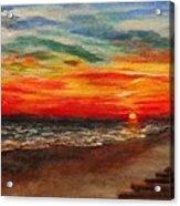 Sunset After Sandy Acrylic Print