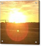 Sunset After Soccer Acrylic Print