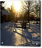 Sunset After The Snow Storm Acrylic Print