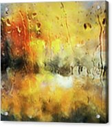 Sunset After The Storm Abstract Acrylic Print