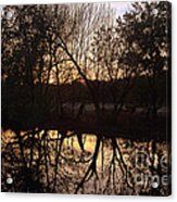 Sunset Along Jordan Creek Acrylic Print