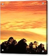 Sunset And Beautiful Clouds Acrylic Print