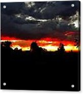 Sunset And Clouds Acrylic Print
