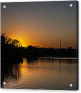 Sunset And Contrails Acrylic Print