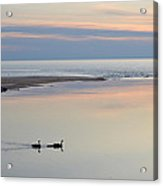 Sunset And Geese Acrylic Print