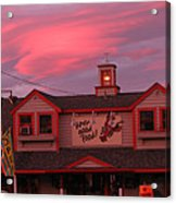 Sunset And Good Food Acrylic Print