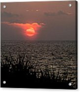 Sunset And Grass Acrylic Print